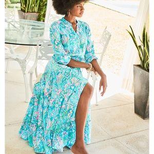NWT Lilly Pulitzer Cori Midi Dress in Blue Ibiza